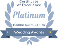Bridebook Wedding Awards - Platinum Certificate of Excellence badge