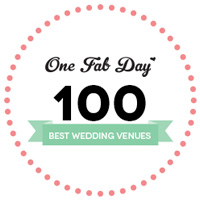 One Fab Day 100 Best Wedding Venues badge